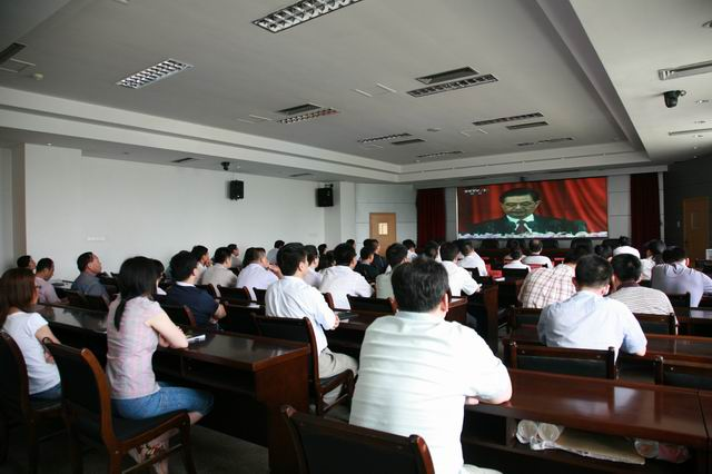 市环保局组织全体党员收听收看祝贺中国共产党成立90周年